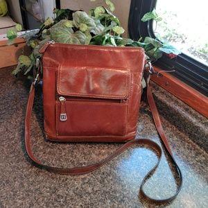 Giani Bernini brown leather crossbody purse